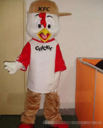 Wholesale Chicken Mascot Costumes - 2016 New Hot selling 2016 Hot sale KFC Chicken Mascot Costume Adult Size Fancy Dress Party Outfit EMS Free Shipping