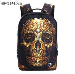 Wholesale Designer Fashion Drop Shipping - Fashion Shoulder Bags Backpacks Travel Sports Outdoor Casual Designer Brand Skeleton School Bags Drop Ship Free Ship O1004