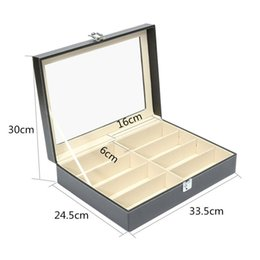 Wholesale Glass Watch Display Stand - Eyewear Sunglasses Jewelry Watches Glasses Storage Display Case Box Organizer, PU Leather Sunglasses Display Stand Organizer Holder