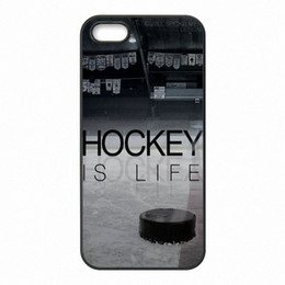 Wholesale Hockey Phone Cases - I Love Ice Hockey Phone Covers Shells Hard Plastic Cases for iPhone 4 4S 5 5S SE 5C 6 6S 7 Plus ipod touch 4 5 6