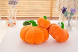 erwachsene spielzeug großhandelspreise Rabatt 7 Zoll Halloween Kürbis Plüschtiere Kürbis Kissen Plüsch für Kinder Halloween Weihnachtsdekoration