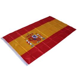 bandiere spagnole Sconti 90x150cm Spagna Bandiera Piedi 3x5 poliestere Bandiere di Spagna - Interni Esterni calcio Bandiera Parte festa Flag - Bandera de España