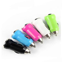 Wholesale Micro Chargers Single Cars - Car Charger for Iphone Charger Portable Mini Phone Charger Micro Single USB Adapter USB Port for Iphone 5 Samsung S4 S5 HTC