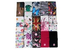 Wholesale Wholesale Leather Card Wallet Usa - For LG K10 G5 K4 K8 HTC One 10 M10 MOTO G4 Flower Flip Cover Wallet Leather Butterfly Zebra Credit Card Litchi UK USA Flag Card Slot Pouch