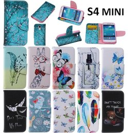 Wholesale S4 Mini Book - Luxury man woman Magnetic Flip Leather Wallet Stand Book Style Soft Case Cover For Samsung Galaxy S4 mini GT-i9190 i9195 i9192