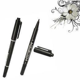 Wholesale Dual Skin Tattoo Scribe Pen - Wholesale- Fashion Body Art 6 x Dual Skin Marker Pen Scribe Piercing Pen Tattoo Supply Tool Black