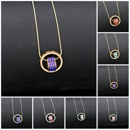 Wholesale Austrian Crystal Heart Pendant - Necklace for Women 2016 Double Necklaces & Pendants 18K Gold Silver Plated Austrian Crystal Circle Heart Pendant Necklac