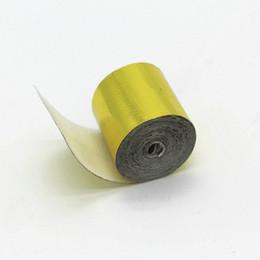 Autoadhesivo Refleja una cinta dorada Resistente a la alta temperatura Envoltura protectora térmica Cinta dorada 2inch * 5M por rollo desde fabricantes