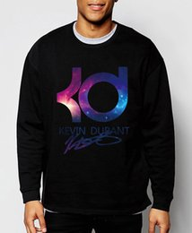 Wholesale Thick Winter Clothes - Wholesale-2016 new Kevin Durant basketball autumn winter fashion men sweatshirts hoodies brand clothing tracksuit hip hop gym streerwear