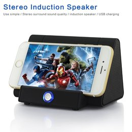 Wholesale Triangle Mini Speakers - Triangle Magic Sound Player Amplified Stereo Induction Music Speaker for Iphone 7, 6, 6S, Plus, Samsung Note 7 Galaxy S7 S6 Android Phones