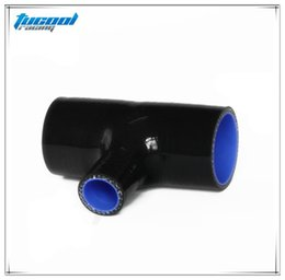 Wholesale Silicone 76mm - 51mm 57mm 60mm 63mm 70mm 76mm T Piece Silicone Hose T Shape Tube Pipe For 25mm BOV