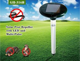Wholesale Pest Supply - New Solar Powered LED Ultrasonic Gopher Mole Snake Mouse Pest Repeller for Garden Yard Tools supplies