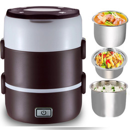 Wholesale Lunch Boxes Heat Food - New Portable Electric Heated Portable Compact Food Warmer Lunch food Box Bento Box us AU EU plug