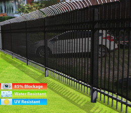 Wholesale Black x50 Fence Windscreen Privacy Screen Shade Cover Fabric Mesh Garden Tarp