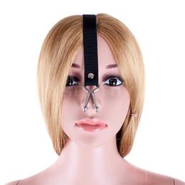 Wholesale Nose Bondage - 1pcs Harness Gag Bondage Head Harness Metal nose hook 2 color