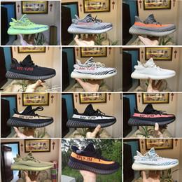 Wholesale E Boost - Sply Boost 350 V2 running shoes for men Beluga 2.0 Orange boost 350 V2 Zebra Cream White Black Red Kanye West Shoes
