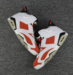 Wholesale Rhinestones Fast Shipping - Gatorade 6 Retro 6s Wholesale Top Quality White Red Basketball Shoes Men Women Size With Box fAST SHIPPING