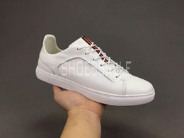 Wholesale Men Leather Pa - HOT Selling top quality luxury brand PA mens leather and suede sneakers outdoor Business casual shoes with box