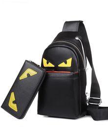 Wholesale Mens Crossbody Bags - 2018 New Set Bag Eye Style Small Monster Leather Men Chest Pack Bag Men Casual Practical Bag Mens Fashion Shoulder Crossbody Bags888568