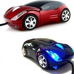 Wholesale Mini Car Shaped Computer Mouse - 1600DPI Mini Car shape USB optical wired mouse innovative 2 headlights mouse for desktop computer laptop