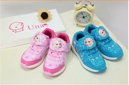 Wholesale Sport Queens - New Spring Autumn Kids Sneaker Shoes For Girls Children Sports Casual Shoes Fashion Snow Queen Elsa Anna Waterproof Chaussure