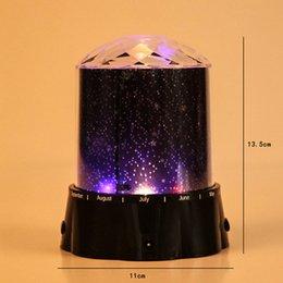 Wholesale Led Starry Sky Projection Lamp - Wholesale- Romantic Laser Starry Sky Stars Projector Night Light Colored Projection Lamp LED Stage Light Projective Lamps Lights Novel