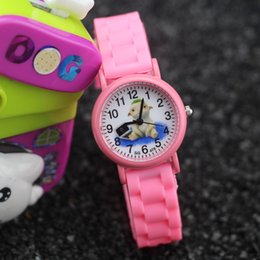 Wholesale Silicone Animal Bands - Free shipping!Factory price!Silicone band,alloy case,cartoon animal imprint dial,cartoon children quartz analogue watches