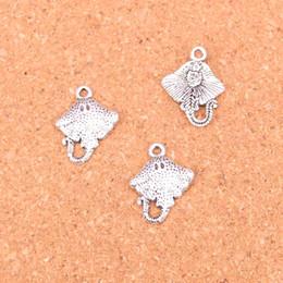 Stachelrochen online-136 stücke Antikes Silber Überzogene stingray fisch Charms Anhänger für Europäische Armband Schmucksachen, die DIY Handgefertigte 21 * 13mm
