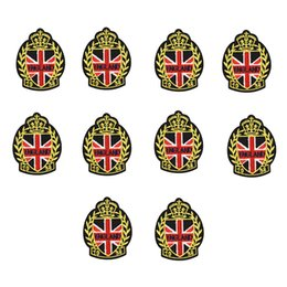 Wholesale Text Stickers - 10PCS text badge patches for clothing iron embroidery patch for clothes applique sewing accessories stickers on clothes iron on patches DIY