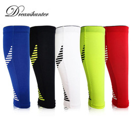 Wholesale Knee Support Leggings - Wholesale- 1PCS Silicone Antiskid Calf Leg Brace Support Stretch Sleeve Basketball Football Leg Sleeve Sports Knee Pads Exercise Leggings