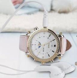 Wholesale Spy Wrist Watches - Newest Women Girl Lady Wrist Watch 8GB HD SPY WATCH with MP3 Hidden CAMERA Waterproof Wristwatch Mini DV DVR Ultra-thin Watch Cam