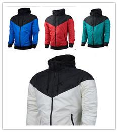 Wholesale Thin Waterproof Fabrics - 2017 Fall thin windrunner Men Women sportswear high quality waterproof fabric Men sports jacket Fashion zipper hoodie plus size 3XL