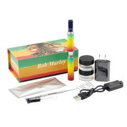 Wholesale Atomizer Dry Herbal - Luxury Bob smoking bob marley 3 in 1 vaporizer pen with herbal tank Atomizer luxury box kit dry herb tank e shisha smoking pen vaporizer