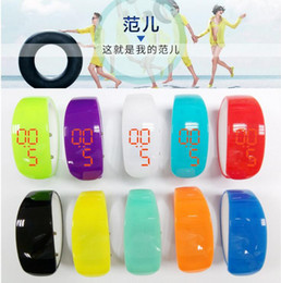 Wholesale Rubber Bracelets Shapes - Products recommended Anime dolphin shape LED sport bracelet watch LED bracelet watch new lady LED watch
