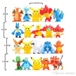 Wholesale Finish Order - Free Shippinng 100pcs Pikachu Pokeball 2-3cm Different Style Mini Cartoon Figure Pocket Monster Toys Mixed Orders