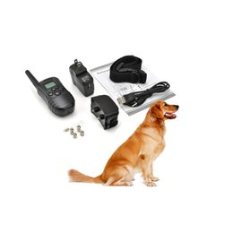 Wholesale Dog Overall - Rechargeable Waterproof Dog Pet Products Training Collar Shock Vibrate LCD Remote for 2 Dogs 300m 100LV 10843 for Dogs Pets overall 2 belts