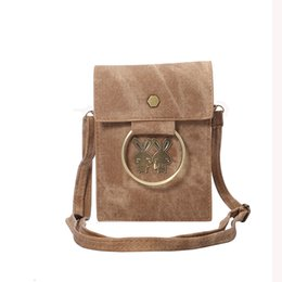 Wholesale Jean Shoulder Bags - Fashion PU Jean Cell Phone Case Bag with Shoulder Strap For 5.7 Inches iphone 8 7 plus Samsung note8 Huawei Pouch OppBag