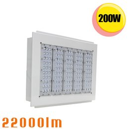 Wholesale Led Retrofit Recessed - 200Watt LED Factory Lighting Gas Station Canopy Retrofit Light IP65 High Bay Recessed Ceiling Fixture 100~277V 5 Years Warranty