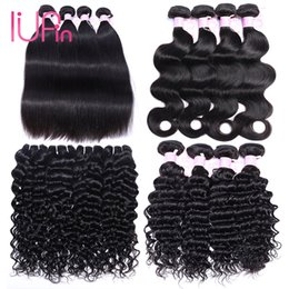 Wholesale Ombre Curly - Brazilian Virgin Hair Straight 4 Bundles Peruvian Water Wave Malaysian Body Wave Indian Deep Wave Curly Human Hair Bundles Hair Extensions