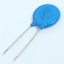 Wholesale Voltage Resistors - Wholesale- 50pcs Varistor 14D471K Voltage Dependent Resistors 470V Varistor Resistor +10% -10% Accuracy