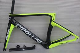 Wholesale Cipollini Bikes Frame - 2016 Glossy or matte1k Cipollini NK1K Black Silver Carbon Road Bike Frame XXS XS S M LFrameset with Fork Seat Post Headset