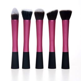 Wholesale Flowing Hair - Flow pric Concealer Brushes e 5 Pcs Set Dense Powder Blush Brush Cosmetic Makeup Tool free shipping DHL 60209