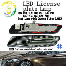 Wholesale Bmw Led License Plate Lighting - 2 X LED Amber Signal Leaf Mirror light for BMW 1 3 5 Series 128i 325i 328i 525i E60 E61 E81 E90 E93