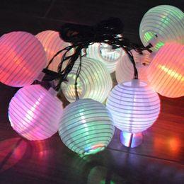Wholesale Led String Lights Outdoor Use - 5M 10LED Lantern Solar String Light Lamps Led Christmas Lanterns Led String Light For Outdoor Use Garden Christmas Decoration Light