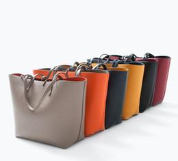 Wholesale Large Double Zipper Handbags - Brand women Shoulder bags Totes bags Double Colors Double Sided Use handbag Fashion bags