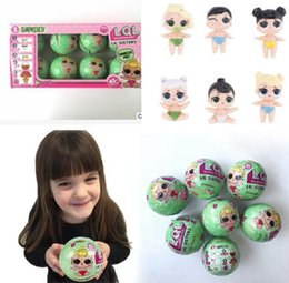 Wholesale Gift Set Toys - 8PCS Set Gifts LOL Surprise Doll Lil Sisters Series 2 Lets be Friends Action Figures Toys KKA2835