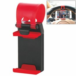 Wholesale Iphone Wheel - Cell Phone Holder for iPhone 6 Plus Xiaomi Huawei GPS Universal Car Steering Wheel Cradle phone stand Clip Car Bike Mount Stand