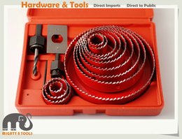 Wholesale Wood Hole Saw Set - 3 4in -5in 16PC Hole Saw Set Holesaw Cutting Drywall Plaster Wood PVC ABS