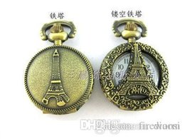 Wholesale Watches Necklaces Cheap - Wholesale-hot sale (10pcs lot)Small size Cheap watch Bronze pocket watch necklace. 27*27mm free shipping