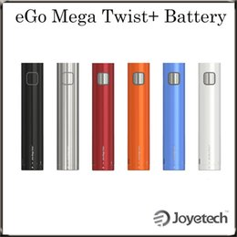 Wholesale Ego Twist Dual - Joyetech eGo Mega Twist+ 2300mAh Battery with VW BYPASS Modes Dual Circuit Protection with Multiple Colors 100% Original DHL Free